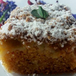 Jemný rebarborový koláč