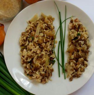 Lehký rýžovo – čočkový salát